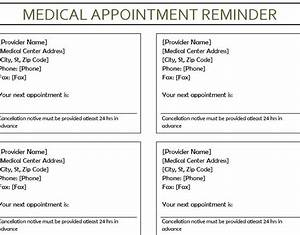 free appointment reminder template 28 images 40 With medical appointment card template free
