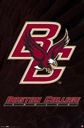 boston college eagles football sports logo posters