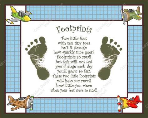 footprint poem baby footprints handprint poem