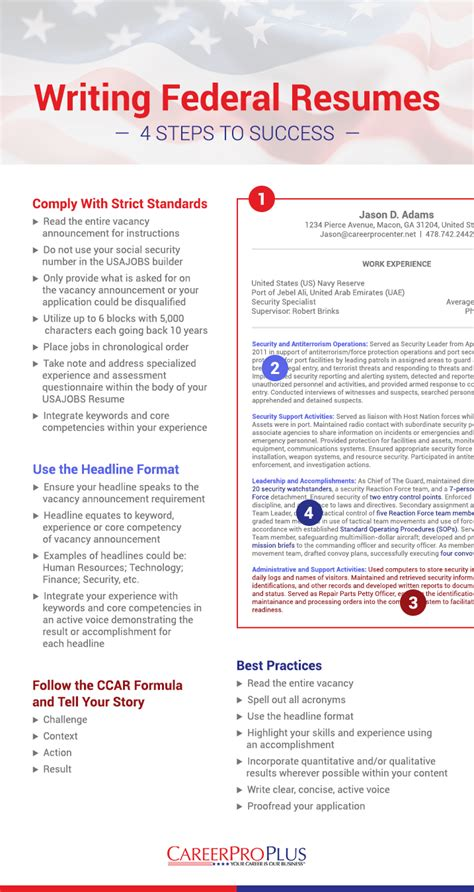 write  federal resume   samples