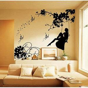 large wall decals for bedroom design decoration With kitchen colors with white cabinets with gossip girl butterfly wall art