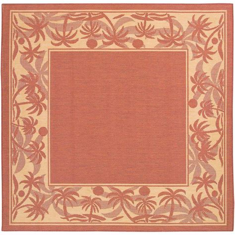 9 X 9 Outdoor Rug by Recife Island Retreat Terracotta 9 Ft X 9 Ft