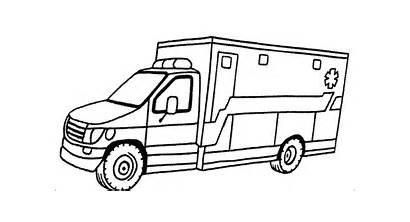 Coloring Pages Ambulance Van Printable Ems Drawing