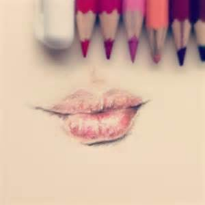 Pencil Drawing Lips