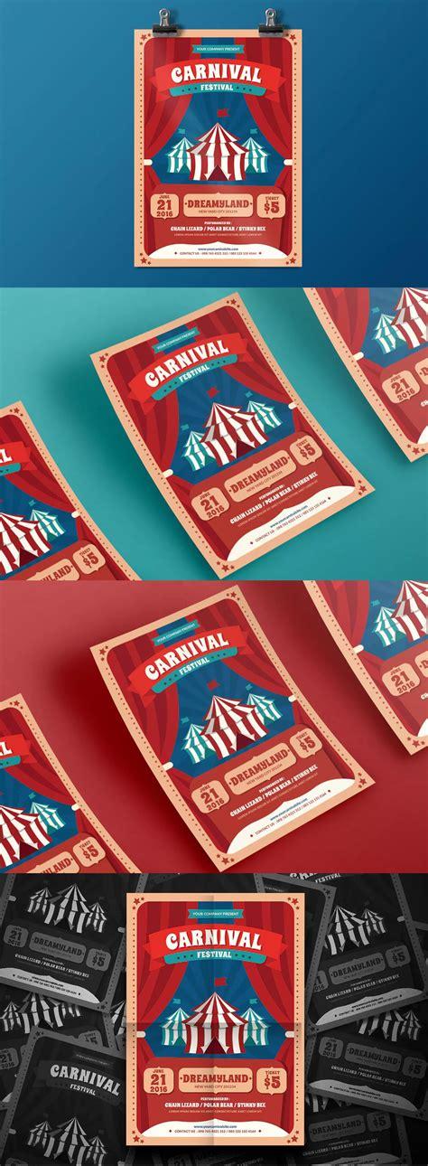 carnival fest flyer template ai psd flyer design