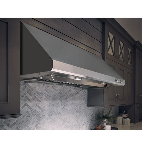 monogram  stainless steel professional hood zvssjss ge appliances