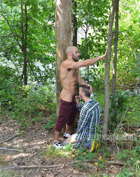best friends austin wilde and arnaud chagall muscle fuck in the woods throbbing dick
