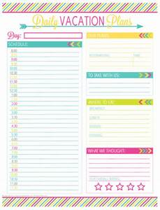 vacation meal planning template