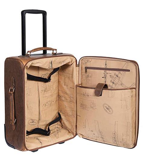 Aero Squadron Leather Wheeled Carry-On Luggage| Awesome ...