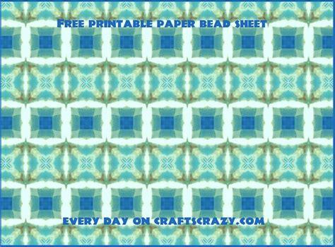 printable decorative paper  paper beads