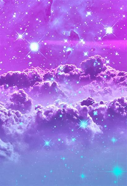 Purple Sky Night Galaxy Stars Backgrounds Quotes