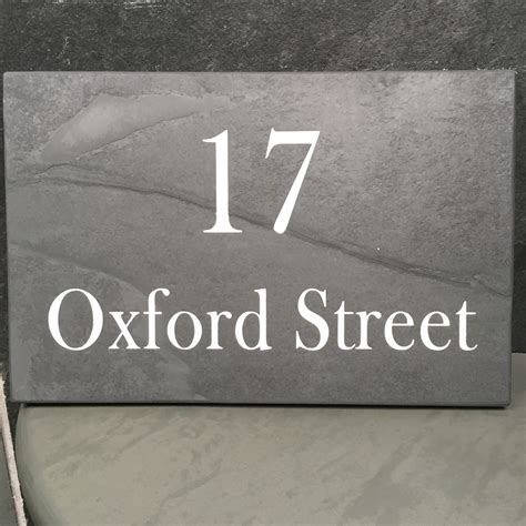 slate phone number slate house signs number and business name plates