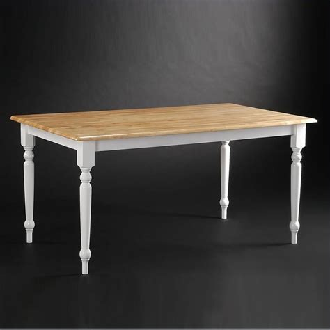 farmhouse 36 quot x 60 quot dining table in white and 70369