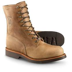 Lace Up Steel Toe Work Boots