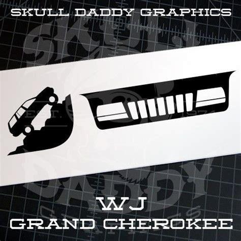 jeep grand cherokee stickers jeep grand cherokee 99 04 wj windsheild grille corner