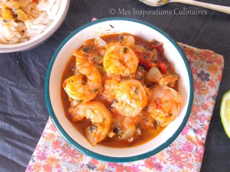 recette de cuisine antillaise fricassee de crevettes recette antillaise le