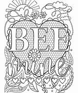 Coloring Crayola Bee Mine Pages Adult Valentine Valentines Colouring Sheets Heart Books Thetoyreviewer sketch template