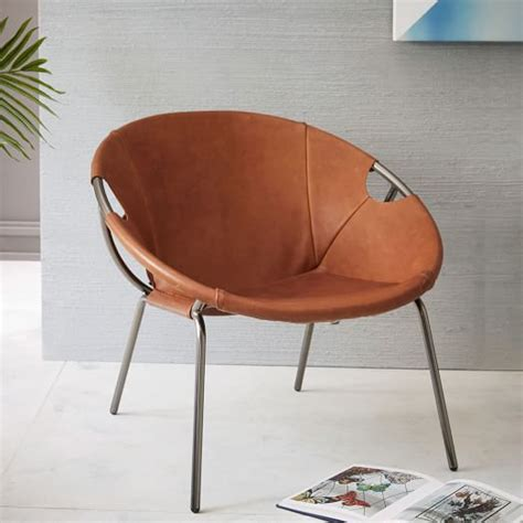 dries leather sling chair west elm