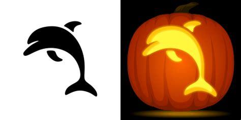 dolphin pumpkin stencil
