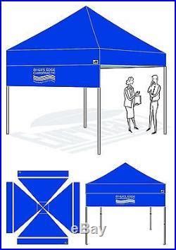 custom logo graphics digital printed drop awning  ez pop  canopy tent patio awnings