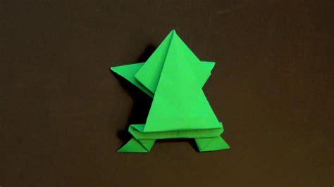 origami jumping frog tutorial     origami