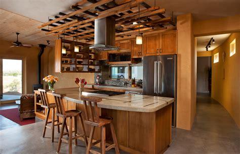 ceiling trellis  custom kitchen southwestern