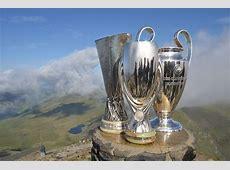 UEFA Super Cup European trophies reach Snowdon summit as