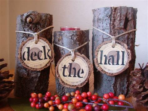 Rustic Wood Candle Holder Set Of 3/christmas Decoration