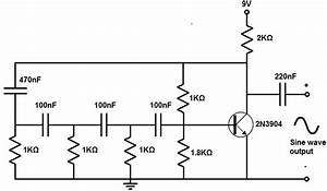 Sine Wave Generator Circuit With A Transistor In 2019