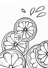 Coloring Fruits Fruit Cross Pages Wuppsy Section Lime Lemon Sections Citrus Printable Printables Summer Select 1000 Category sketch template