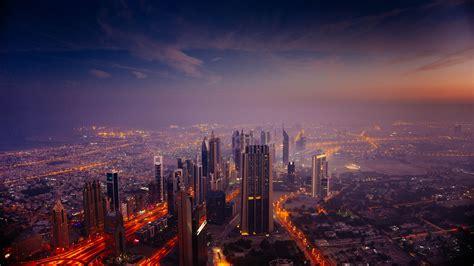 Dubai City In Sunrise, Hd 8k Wallpaper