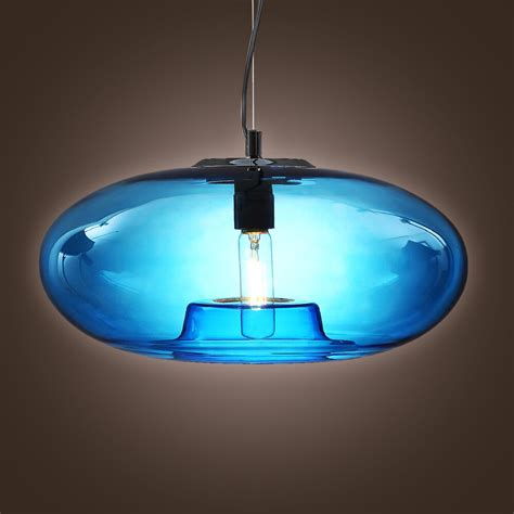 glass light chandelier modern mini blue glass pendant l ceiling light fixture