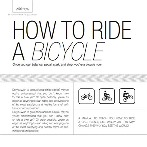 how to ride a bike how to ride a bicycle manual zenaadhami