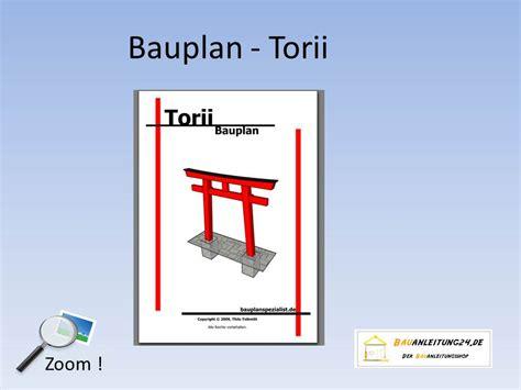Japanisches Tor Bausatz by Bauanleitung Torii