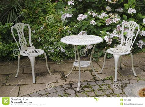 garden table and chairs royalty free stock photos image
