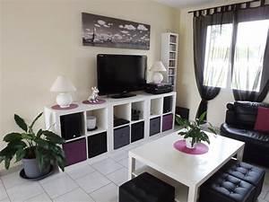 Ikea Idee Deco : decoration salon violet avec best salon noir et blanc deco avec idee deco salon gris blanc noir ~ Preciouscoupons.com Idées de Décoration