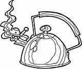 Coloring Kettle Template Teapot Pages sketch template
