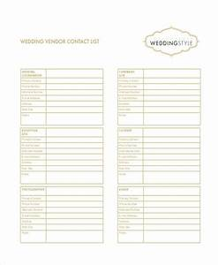 wedding vendor contact list excel driverlayer search engine With wedding vendor checklist template