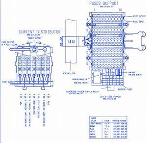 Porsche Cayenne 2006 Engine Fuse Box  Block Circuit Breaker Diagram