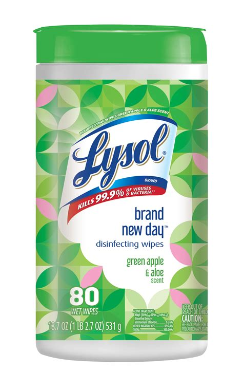 LYSOL® Disinfecting Wipes - Brand New Day™ Green Apple and