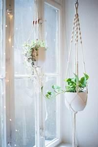 Makramee Garn Für Blumenampel : makramee blumenampel selber machen 40 ideen wie sie ein frisches flair in den raum bringen ~ Frokenaadalensverden.com Haus und Dekorationen