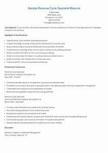 resume samples sample revenue cycle specialist resume With healthcare revenue cycle management resume samples