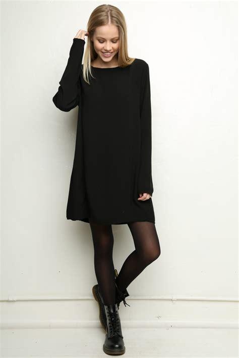 a line pinafore dress 10 black dresses we black tights dr martens