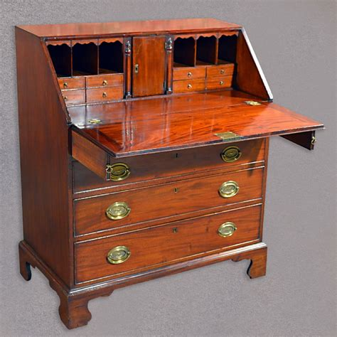vintage bureau antique fall front bureau georgian desk mahogany writing