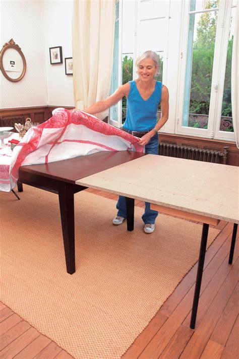 fabriquer une table de fabriquer une rallonge de table amovible