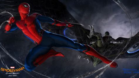 wallpaper spider man homecoming  movies concept art