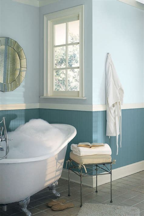 cool two tone blue bathroom colors idea combined with