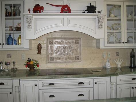 ceramic backsplash tiles for kitchen pressed floral tiles installed in kitchen backsplash