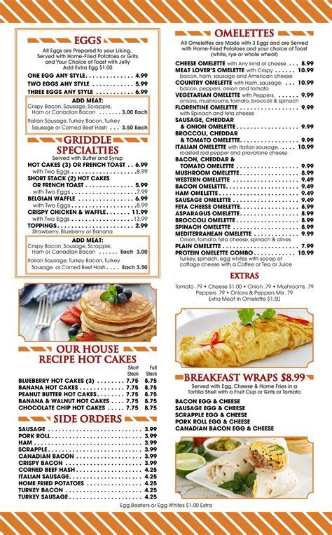 Breakfast Menu | Marsh Road Diner