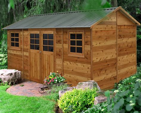The Cedar Shed - cedar shed hollydean 16x8ft 4 8mx2 5m 3 875 00
